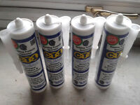4 BRAND NEW TUBES OF CLEAR CT1 SILICONE MASTIC