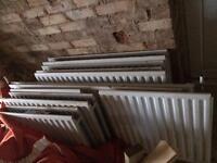 9 radiators various sizes some double single