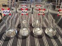 Kronenbourg 1664, France, stemmed Beer Glasses 0.25L