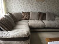 URGENT CORNER SOFA good condition 16 months old Can deliver if needed within reasonable distance