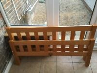 Perfect Condition Pine Double Bed including Mattress