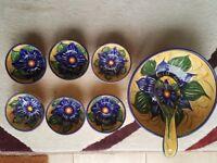 Spanish hand painted bowl set
