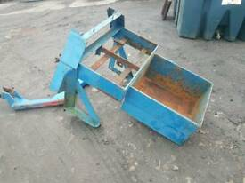 Pair of Tractor front weight boxes and quick release a frame