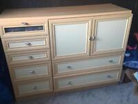 Chest of drawers and tall boy