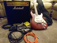 Marshall MG50DFX Amp & Westfield Electric Guitar