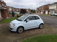 Fiat 500 1.4L Lounge Powder Blue