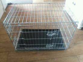 Silver medium dog crate