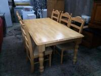 Solid Beech/Ash Kitchen Table & ChaIrs