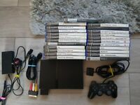 playstation 2 console bundle with 23 games