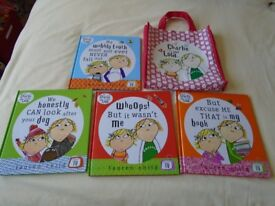 Charlie and Lola books x 4 in bag