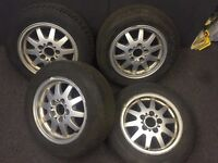 "BMW E36 3 series 15"" Alloy wheels and tyres 5x120 - Skid Drift Spares Winter"