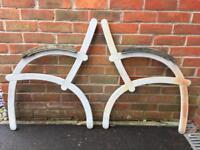 Garden bench ends retro style!
