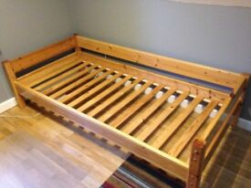 Thukka children's pine bed. Can be used added to existing bed as a bunk.
