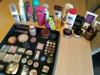 Big selection of makeup and hair/body products