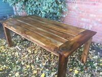 """Reclaimed"" Indian Hardwood Dining Table, 200cm x 100cm"