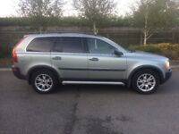 2003 53 PLATE VOLVO XC90 T6 GAS BI FUEL AUTOMATIC 7 SEATER ESTATE GREEN