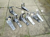 Drums - Bass Drum Pedals - 6 Available - Plus Double Bass Drum Slave Pedal x 2 - Connecting Bar