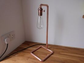 Copper table lamp by Artisan craftworks