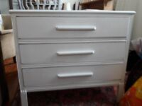 Small vintage painted 3-drawer chest in good condition