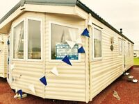 stunning dg & ch static caravan for sale at sandy bay on northumberland coast 5* facilities low fees