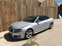 2010 AUDI A5 S LINE 1.8 TFSI CONVERTIBLE SILVER LIGHT DAMAGED SALVAGE REPAIRABLE