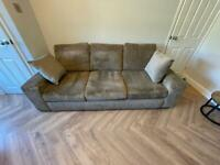 4 Seater sofa and cuddle chair