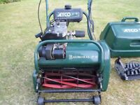Atco Balmoral 17SE Electric Start Petrol Mower with in terchangeable Scarifier attachement in VGC