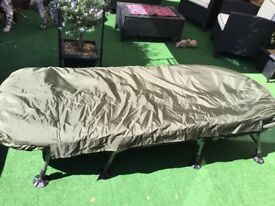 Nash Indulgence Bedchair + Trekker Duotex sleeping bag