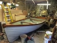 16ft GRP clinker fishing boat