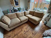 Two settees plus footstool