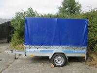 8ft x 4.4ft Multipurpose Box Trailer with Cover Flat Bed Tipping Removable Sides