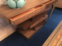 Designer Abstract Wooden Console Table