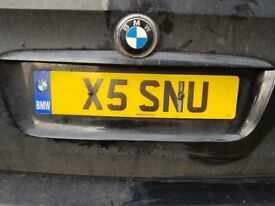 bmw X5 Private plate number X5 SNO