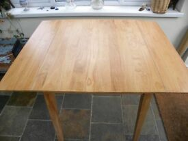 Solid Beech drop leaf dining or kitchen table