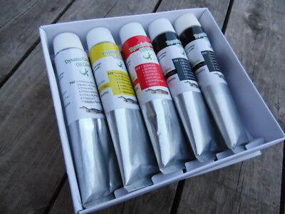 Oil Paints, Lot of 5 Colors of  X-Large 170ml Tubes, Professional Artist Pigment - Large Tubes