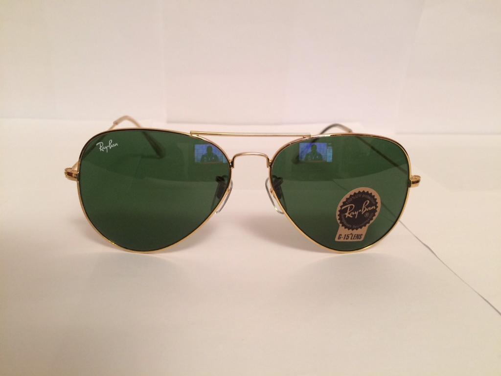 Ray Ban Aviator Sunglasses RB3025 (gold frame/dark green lens)