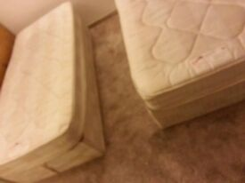 2 single bed and mattress for sale