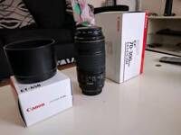 Canon EF 75-300mm IS Lens, + UV Filter and Hood