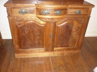 Beautiful Super Large Old Antique Sideboard magnificent carving a real stunner WOW!
