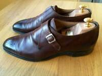 Luxurious Cheaney Leeds Buckle Monk mens formal shoes, brown leather, 43/uk9, rrp £320