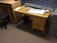 Old small office desk