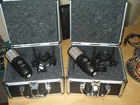 AKG P220 Large Diaphragm Condenser Microphones X2