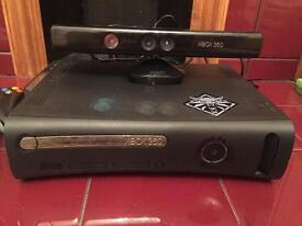 XBox 360 120GB with Kinect/Controllers and 31 Games