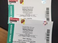 2 x Rolling Stones standing tickets Twickenham Tuesday June 19th