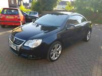 VW EOS- 2007 - BLACK HPI CLEAR - LOW MILES - FULL SERVICE HISTORY