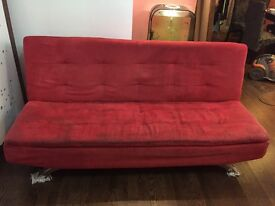 Red sofa bed, good condition