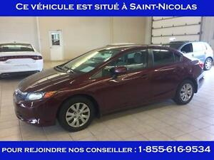 Honda Civic Lx , Bluetooth Lx Automatique 2012