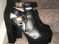 Dolcis Black Heeled Boots (NEW)