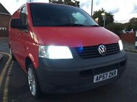 2007 Volkswagen TRANSPORTER.RECENTLY SERVICED.ONE OWNER.BRILLIANT DRIVE.BULKHEAD.PLYLINED.CD. E/W.