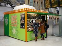 Full- and part-time staff required for Indian food kiosk inside Brighton Station